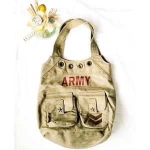 CANVAS ARMY TOTE